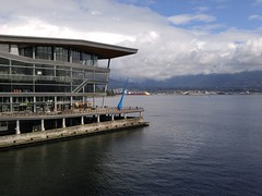 Burrard Inlet Vancouver 20170420_103825 (CanadaGood) Tags: canada britishcolumbia bc vancouver downtown cameraphone building burrardinlet canadaplace conventioncentre sea 2017 thisdecade canadagood colour color blue