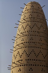 MAT12 (mariatarasoff) Tags: brown sand qatar doha katara cultural culture centre macro closeup wood sticks rustic birds patterns patterning geometric sky blue holes mud adobe traditional tradition sun sunlight contrast bold column arch middle east eastern arcitecture arab arabia arabic gcc gulf museum islamic art contemporary modern water building iconic entry entrance cityscape view framing fountain skyline west bay corniche arabian sunset