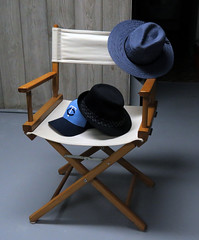 81/365 The Many Hats of Me (*TheDayDreamer*) Tags: chair hat clothes object stilllife cowboy western baseball fedora director movie work 365project 365photoproject conceptphotos