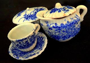 Glazed Victorian Children's Tea Set....Macro Mondays