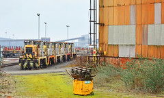 Janus class shunters at Scunthorpe (robmcrorie) Tags: scunthorpe steel works lincolshire british frodingham appleby rps janus class shunter yorskhire brake van tour factory train rail railway steam