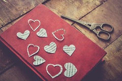 my LOVE for BOOKs (Ayeshadows) Tags: loveforbooks paperhearts eiffeltower scissor