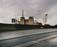 Reconstruction (jubalharshaw) Tags: nine elms battersea redevelopment regeneration power station pentax 67 portra 400 film photography medium format colour color 55mm f4 lens london reconstruction