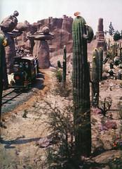 Rainbow Caverns ride at Disneyland (Tom Simpson) Tags: disney disneyland vintage vintagedisney frontierland 1960s desert rainbowcaverns train railroad