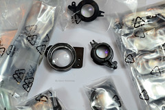 Yashica T3 Lenses (01) (Hans Kerensky) Tags: yashica t3 spare part lens field 38421120 front 38421130