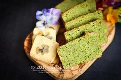 Matcha Pound Cake & Flower Cookie (TailorTang) Tags: matcha greentea poundcake orangepeel edibleflower pansy violas cookie choppingboard food foodphotography stilllife dessert 50mm 5014