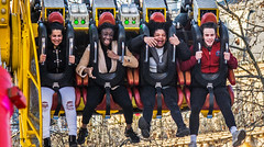 a ride (albyn.davis) Tags: ride people teens children fun laughing emotion paris france europe teenagers screaming faces portraits