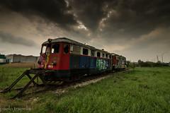 la locomotiva abbandonata (paolotrapella) Tags: locomotiva treno clouds cielo nuvole canon