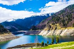 GURA APELOR dam...1 (Don Costello) Tags: dam baraj water mountains hunedoara retezat romania landscape green blue beauty nature nikon d3300