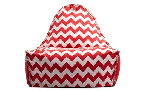 Sukee Bean Chair Red and White by Furniture Runway