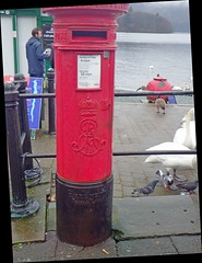 ER Post (Wildlife Terry well behind) Tags: er vr post pillar wall boxes windermere lakedistrictnationalpark cumbria northwestengland british engineering