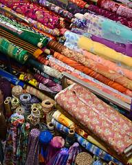 Singapore Fabrics (Mondmann) Tags: fabrics colors colorful multicolored mustafacentre littleindia singapore southeastasia shopping mall shoppingmall mondmann nikond7100 syedalwiroad