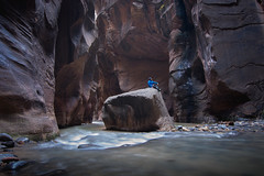 Floating Rock (rubenparra78) Tags: zion nationalpark thenarrows canyon river canyoneering utah rockformations slotcanyon hiking