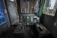 Winder Controls (Camera_Shy.) Tags: mine coal bergwerk control room derelict abandoned old urban exploration industry urbex tresspassing controls winding house