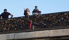 Sweetheart padlocks.Paris (martin.bruntnell) Tags: paris padlocks sweetheart