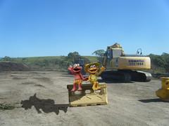 1004 (dela7) Tags: downunderchallenge1004 duc1004 machinery muppets block concrete blue sky boldrin dirt trees gravel pile