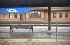 Riverside (Crawford Brian) Tags: riverside illinois usa midwest train commuter metra rail railroad brick bench platform