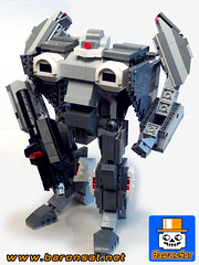 Alpha-Fighter-02 (baronsat) Tags: lego mecha robot model custom moc japan new armored battle mech figure toy scifi military war meka anime japanese exo gun cannon future space armor machine piloted walker vintage tv hobby baronsat gundam macross robotech transformable battroid fighter