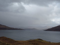 8627 Misty mountains behind a grey Loch Quoich reservoir (Andy - Busyyyyyyyyy) Tags: 20170319 ccc clouds glenquoich lll lochcuiach lochquoich misty mmm mountains murky qqq reservoir rrr scotland water www