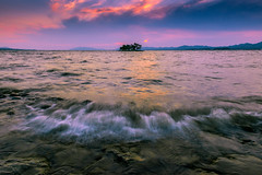 sunset 9845 (junjiaoyama) Tags: japan sunset sky light wave cloud weather landscape contrast colour bright lake island water nature spring
