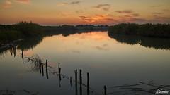 Riola sunset (Francisco Chornet) Tags: xúquer júcar riola río cauce agua longexposition efectoseda atardecer ocaso puestadesol sonystas sony a58 tamronsp1750 filtros