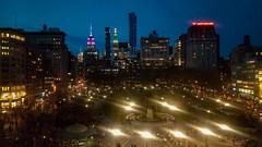 Union Square at Night (Diana Rivera Event Photography) Tags: unionsquare flatironnyc flatirondistrict unionsquarepark night evening bluehour nyc newyorkcity citylights