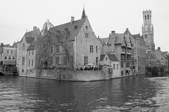 Historic Bruges black & white (Steve M Photography) Tags: bruges dijvercanal groenereicanal belgium blackandwhite architecture historic europe tourism belforttower belfrytower citybreak culture medieval atmospheric unesco brugge