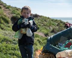Isle of Wight Beach Clean at Compton Bay - DSCF2118 (s0ulsurfing) Tags: s0ulsurfing 2017 march isle wight beachclean pollution coast compton beach rubbish