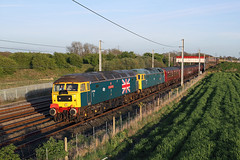 47580+47270 Winwick 22nd April 2017 (John Eyres) Tags: to end good days photting caught returning 1z28 holyhead carnforth y triongl gogledd cymru branch line society brush type 4 fund tour winwick this time with 47580 tandem 47270 for last leg north 220417