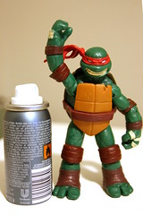 Higly Flamable (Rafael Pealoza) Tags: bottle spray 365 raphael deodorant tmnt flamable oneobject365daysproject 365toyproject 365daysofraphael
