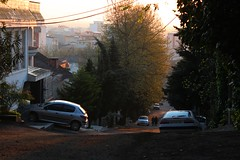 Lahijan (mehdeeep) Tags: city sunset tree cars evening alley غروب lahijan لاهیجان