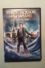AUTOGRAPHED DVD: Percy Jackson & The Olympians: The Lightning Thief (item #3) front (Kevin McKidd Online) Tags: poverty charity food rescue rome celebri