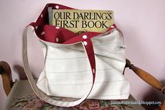 Schooldays Notebook Tote Bag (listen to the birds sing) Tags: school bag notebook book diy sew canvas tote tutorial notepaper reversible