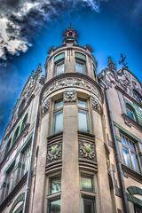on the corner (stanfarber62) Tags: blue sky building corner denmark classical ornate mythology upwards cormer