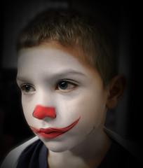 Clowkid (Aaroncillo) Tags: boy portrait face childhood photoshop children sadness tristeza kid sad retrato clown cara ps niños personas peoples triste feeling melancholy gil payaso infancia niño melancolia sentimiento aarón aaroncillo