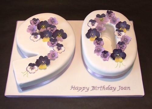 Pansy 90th Birthday Cake