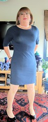 Blue Dress (Trixy Deans) Tags: hot cute sexy classic tv highheels dress cd crossdressing tgirl tranny transvestite heels transgendered crossdresser crossdress tg sexylegs transsexual classy shemale slips shemales sexyheels crossdreeser sexytransvestite