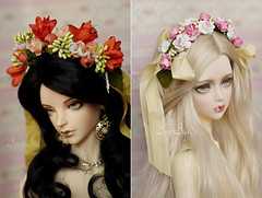 Many, many, maaaaany new flower wreaths (AyuAna) Tags: flower ball design doll handmade ooak wreath bjd dollfie jointed ayuana
