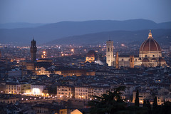 Sunset Over Florence (virtualwayfarer) Tags: nightphotography sunset italy church water river square evening florence italian europe view darkness cathedral dusk tuscany cupola chianti late firenze layers duomo arno michelangelo overlook palazzo afterhours mustsee santamariadelfiore piazzalemichelangelo tavarnellevaldipesa tavarnelle tuscanhills eveningphotography mustdo chiantidavivere