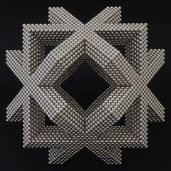 Intersecting Diamond Stick Squares (Mathnetism) Tags: squares magnets diamond zen stick intersecting neodymium