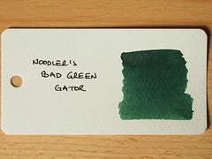 Noodler's Bad Green Gator - Word Card