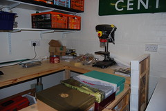 Shots of the clubroom - the workbench