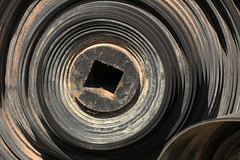 Rubber Coil (gripspix) Tags: rubber used gummi conveyorbelt sparepart gebraucht ersatzteil förderband feederband 20140505 scrapheapbeauties