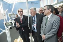 Alexander Dobrindt, Frédéric Cuvillier, José Viegas taking a tour