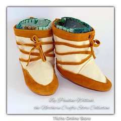 #Baby #Moccasin #Mukluks by Pauline Williah, the #Northern #Crafts #Store Collection #Tlichohttp://onlinestore.tlicho.ca/products/baby-moccasin-mukluks-2 (Tlicho Online Store) Tags: baby store crafts northern moccasin mukluks tlicho
