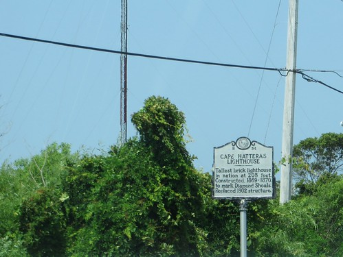 Cape Hatteras Lighthouse, North Carolina Historical Marker B-54, Buxton, North Carolina
