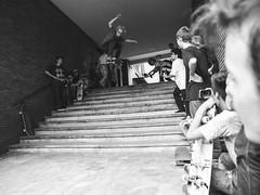The giants of the world, crashing down. (fedeskier) Tags: summer white black june stairs torino fun grande big day doors estate skateboarding go 11 ollie e skate skateboard porte giugno turin bianco nero palatine divertimento 2014 gradini