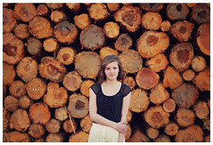 (Kayla*Dawn) Tags: trees summer portrait woman girl canon river pose spring mark candid logs sunny ii backdrop 5d shorts mm 50 niftyfifty