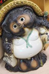 Tanuki (Lark Ascending) Tags: japan god balls happiness tanuki nippon takayama nihon testes scrotum racoondog folkgod
