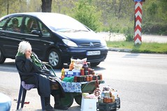 The invisible grandma (Pavel Topalov) Tags: nikon highway sad grandmother market invisible bulgaria lonely nikond300